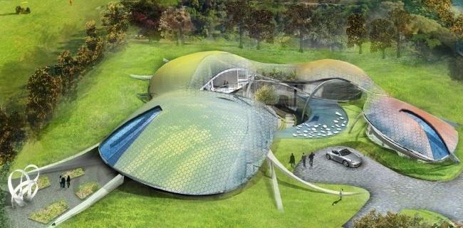 Abstrakte Villa englischer Lotto Millionäre