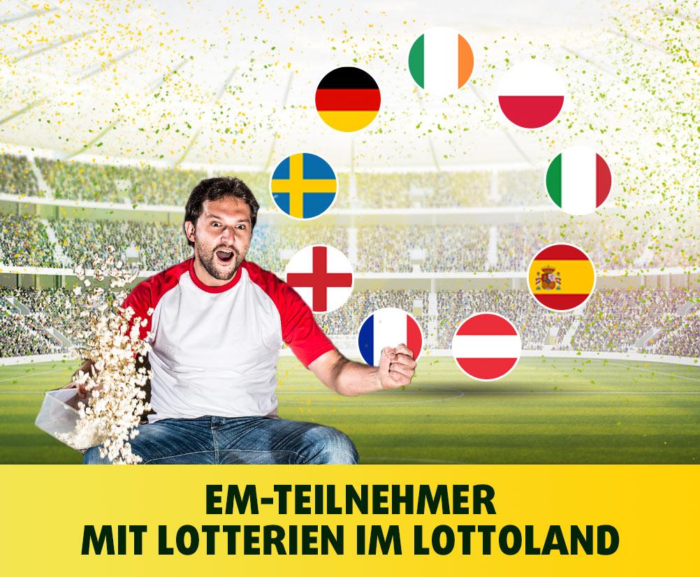 EM-Teilnehmer mit Lotterien im Lottoland