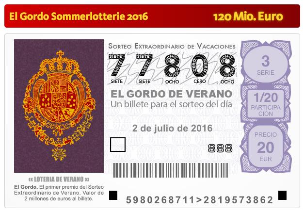 Los der Spanischen Sommerlotterie