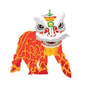 Chinesischer Löwe an Neujahr