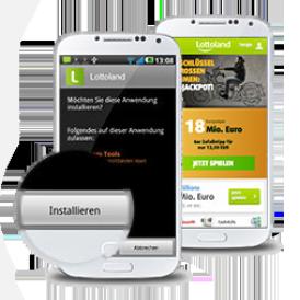 Lotto mobil - App installieren