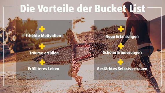 Die Vorteile der Bucket List