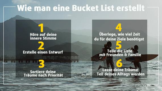 Wie man eine Bucket List erstellt