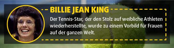 Billie Jean King: Tennis-Spielerin