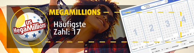 MegaMillions - Häufigste Zahl: 17