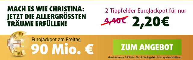 EuroJackpot-Angebot für Neukunden