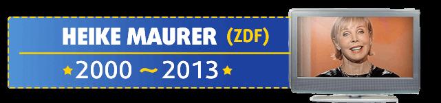 Heike Maurer war die Lottofee im ZDF und moderierte die Lottoziehung von 2000 bis 2013