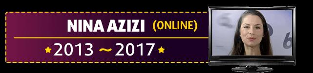 Nina Azizi moderierte die Lottoziehung im Internet im Wechsel mit Chris Fleischhauer von 2013 bis 2017